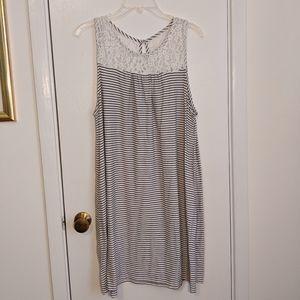 Merona Stripes and Lace Tank Top Dress
